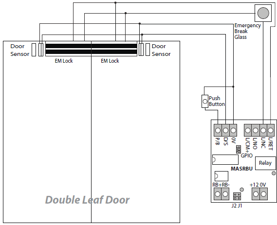 em lock wiring diagram com image acirc reg full complete rfid door double leaf door is not release door only release microengine please check the wiring connection to